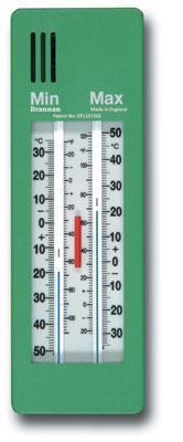 Garden Thermometer Max Min Push Button Heavy Duty